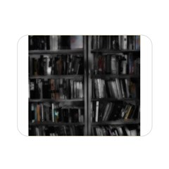 Black White Book Shelves Double Sided Flano Blanket (Mini)