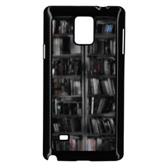 Black White Book Shelves Samsung Galaxy Note 4 Case (black)