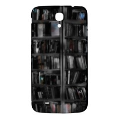 Black White Book Shelves Samsung Galaxy Mega I9200 Hardshell Back Case