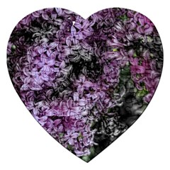 Lilacs Fade To Black And White Jigsaw Puzzle (heart)
