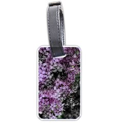 Lilacs Fade To Black And White Luggage Tag (one Side)