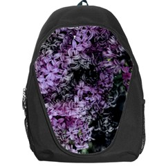 Lilacs Fade To Black And White Backpack Bag