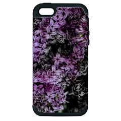Lilacs Fade To Black And White Apple Iphone 5 Hardshell Case (pc+silicone)