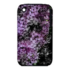Lilacs Fade to Black and White Apple iPhone 3G/3GS Hardshell Case (PC+Silicone)