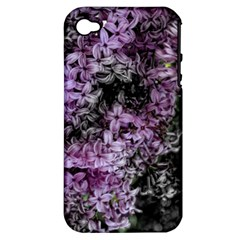 Lilacs Fade To Black And White Apple Iphone 4/4s Hardshell Case (pc+silicone)