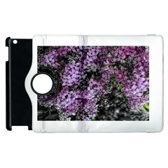 Lilacs Fade To Black And White Apple Ipad 2 Flip 360 Case