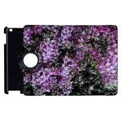 Lilacs Fade To Black And White Apple Ipad 3/4 Flip 360 Case