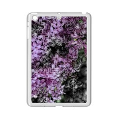 Lilacs Fade to Black and White Apple iPad Mini 2 Case (White)