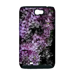 Lilacs Fade to Black and White Samsung Galaxy Note 2 Hardshell Case (PC+Silicone)