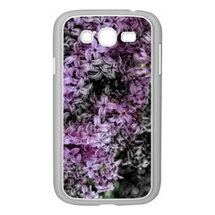 Lilacs Fade To Black And White Samsung Galaxy Grand Duos I9082 Case (white)