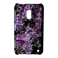 Lilacs Fade To Black And White Nokia Lumia 620 Hardshell Case