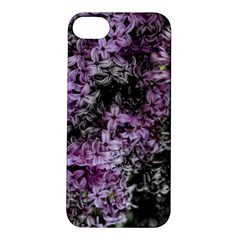 Lilacs Fade to Black and White Apple iPhone 5S Hardshell Case