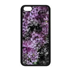 Lilacs Fade to Black and White Apple iPhone 5C Seamless Case (Black)