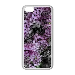 Lilacs Fade To Black And White Apple Iphone 5c Seamless Case (white)