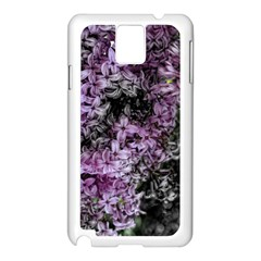 Lilacs Fade To Black And White Samsung Galaxy Note 3 N9005 Case (white)