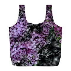 Lilacs Fade to Black and White Reusable Bag (L)