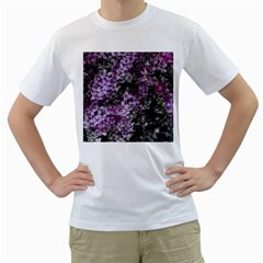 Lilacs Fade to Black and White Men s T-Shirt (White)