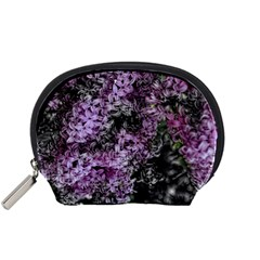 Lilacs Fade to Black and White Accessory Pouch (Small)