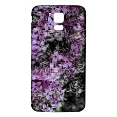 Lilacs Fade To Black And White Samsung Galaxy S5 Back Case (white)