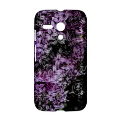 Lilacs Fade to Black and White Motorola Moto G Hardshell Case