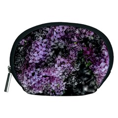 Lilacs Fade to Black and White Accessory Pouch (Medium)