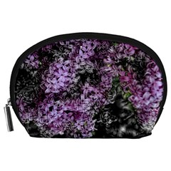 Lilacs Fade to Black and White Accessory Pouch (Large)