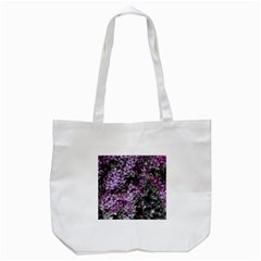 Lilacs Fade to Black and White Tote Bag (White)