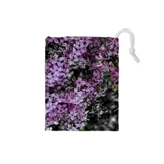 Lilacs Fade to Black and White Drawstring Pouch (Small)