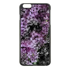 Lilacs Fade to Black and White Apple iPhone 6 Plus Black Enamel Case