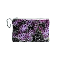 Lilacs Fade to Black and White Canvas Cosmetic Bag (Small)