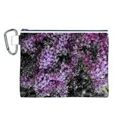 Lilacs Fade to Black and White Canvas Cosmetic Bag (Large)