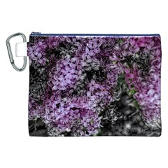 Lilacs Fade to Black and White Canvas Cosmetic Bag (XXL)