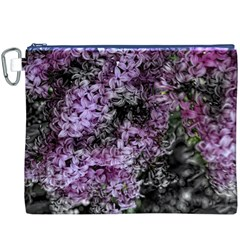 Lilacs Fade to Black and White Canvas Cosmetic Bag (XXXL)
