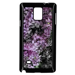 Lilacs Fade to Black and White Samsung Galaxy Note 4 Case (Black)