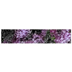 Lilacs Fade to Black and White Flano Scarf (Small)