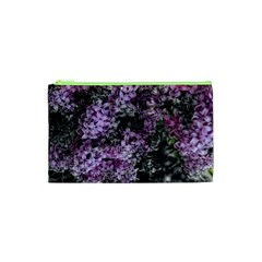 Lilacs Fade to Black and White Cosmetic Bag (XS)