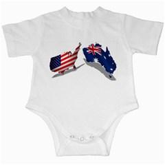 Australian And Us Flag Infant Bodysuit