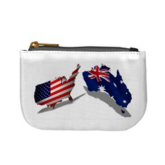 Australian And Us Flag Coin Change Purse