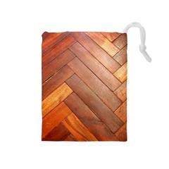 Wood11 Drawstring Pouch (Medium)