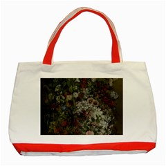 Courbet Bouquet Of Flowers In Vase Classic Tote Bag (Red)