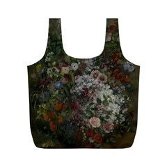 Courbet Bouquet Of Flowers In Vase Reusable Bag (M)