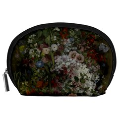 Courbet Bouquet Of Flowers In Vase Accessory Pouch (Large)