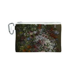 Courbet Bouquet Of Flowers In Vase Canvas Cosmetic Bag (small)