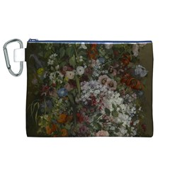 Courbet Bouquet Of Flowers In Vase Canvas Cosmetic Bag (XL)