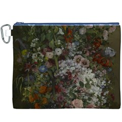 Courbet Bouquet Of Flowers In Vase Canvas Cosmetic Bag (XXXL)