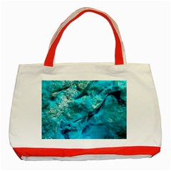Turquoise Classic Tote Bag (red)