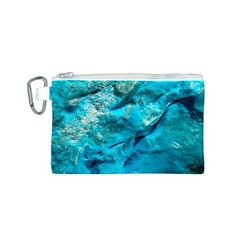 Turquoise Canvas Cosmetic Bag (Small)