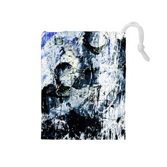 Abstract11 Drawstring Pouch (Medium)