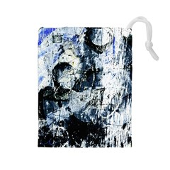 Abstract11 Drawstring Pouch (Large)
