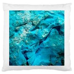 Turquoise Large Flano Cushion Case (Two Sides)